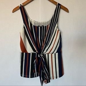 NWT Express striped tied tank top